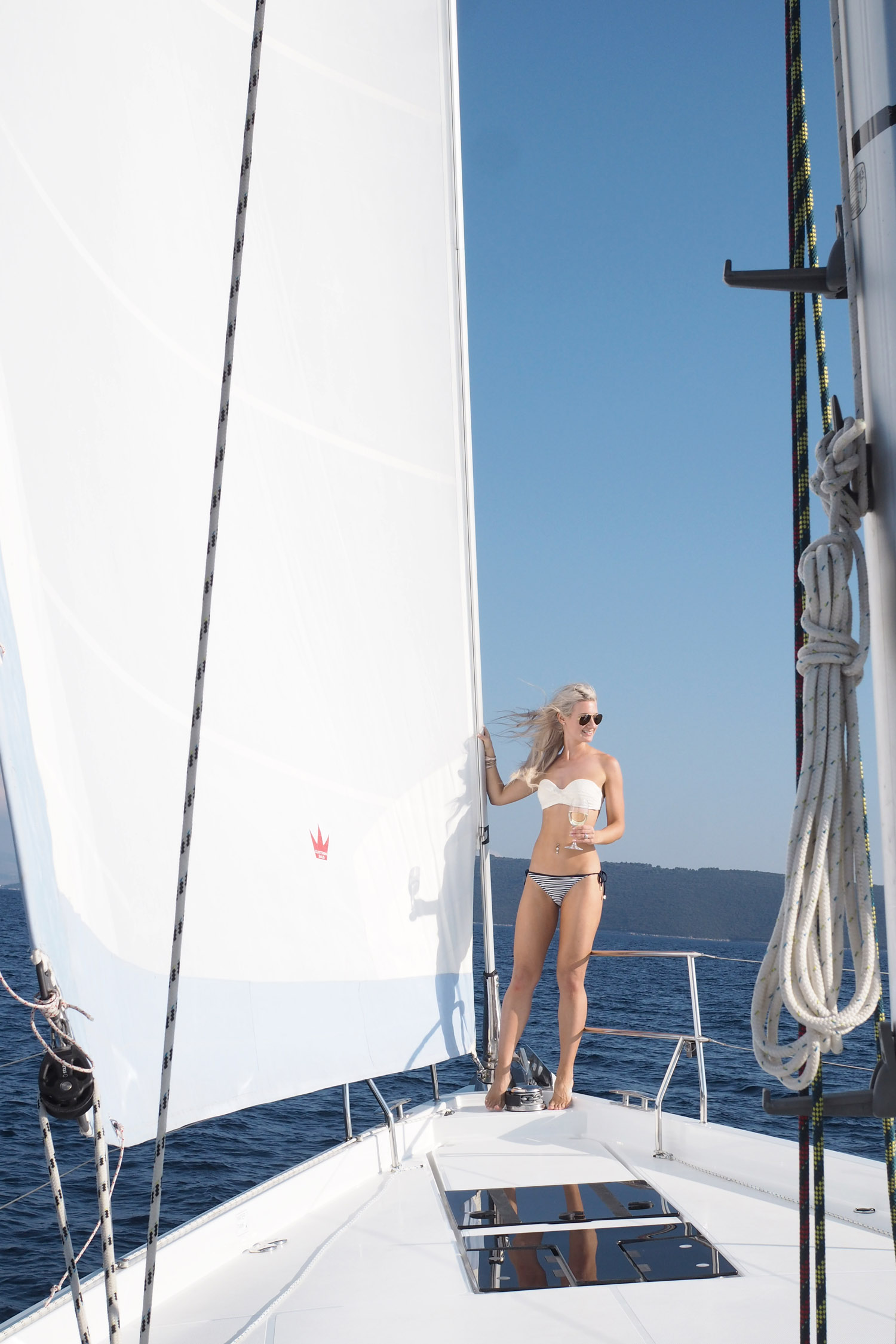 Char and the city - Sailing in Croatia - Navigare Yachting - Hanse 575 sailboat - //www.idealista.fi/charandthecity/2016/10/02/purjehdus