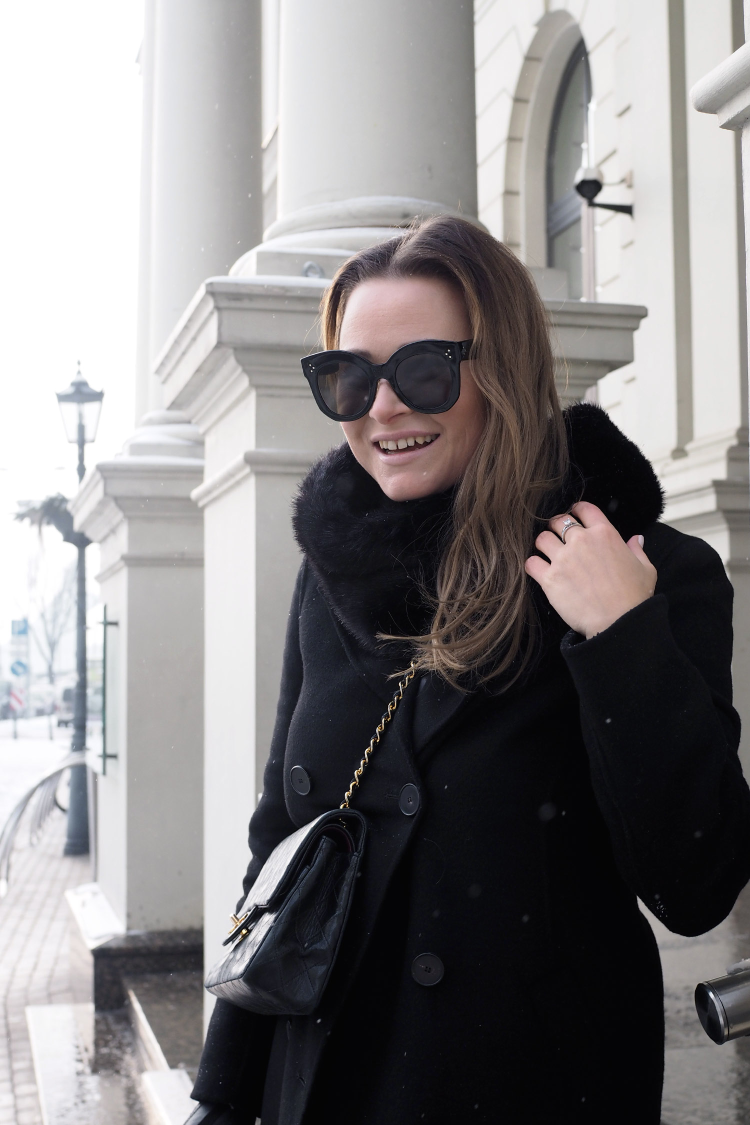 Char and the city, outfit of the day, all black, Céline sunglasses, päivän asu, muoti