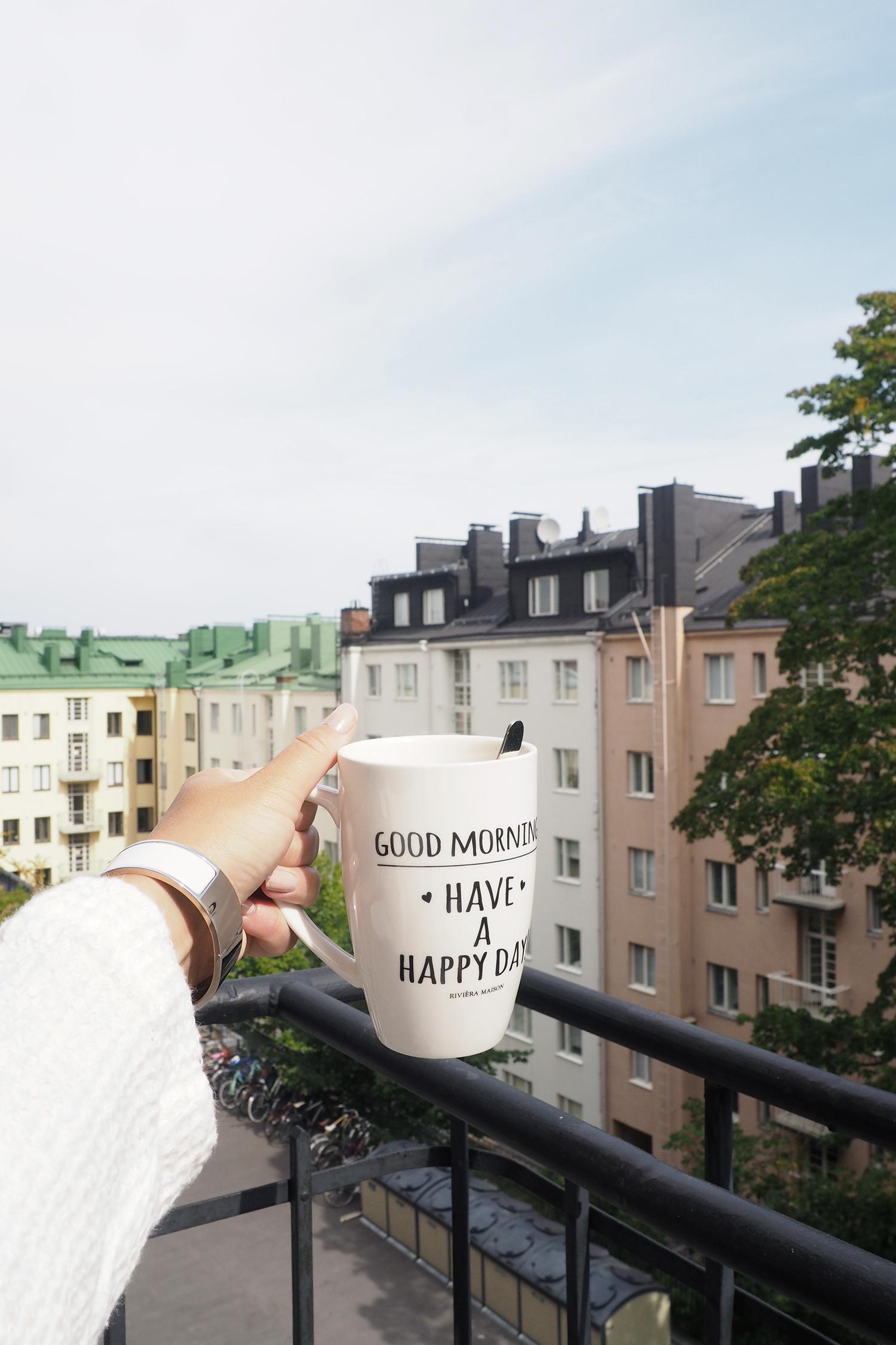 Char and the city, charandthecity.com, parveke, aamiainen, brekkia, balcony, Töölö, Helsinki, home
