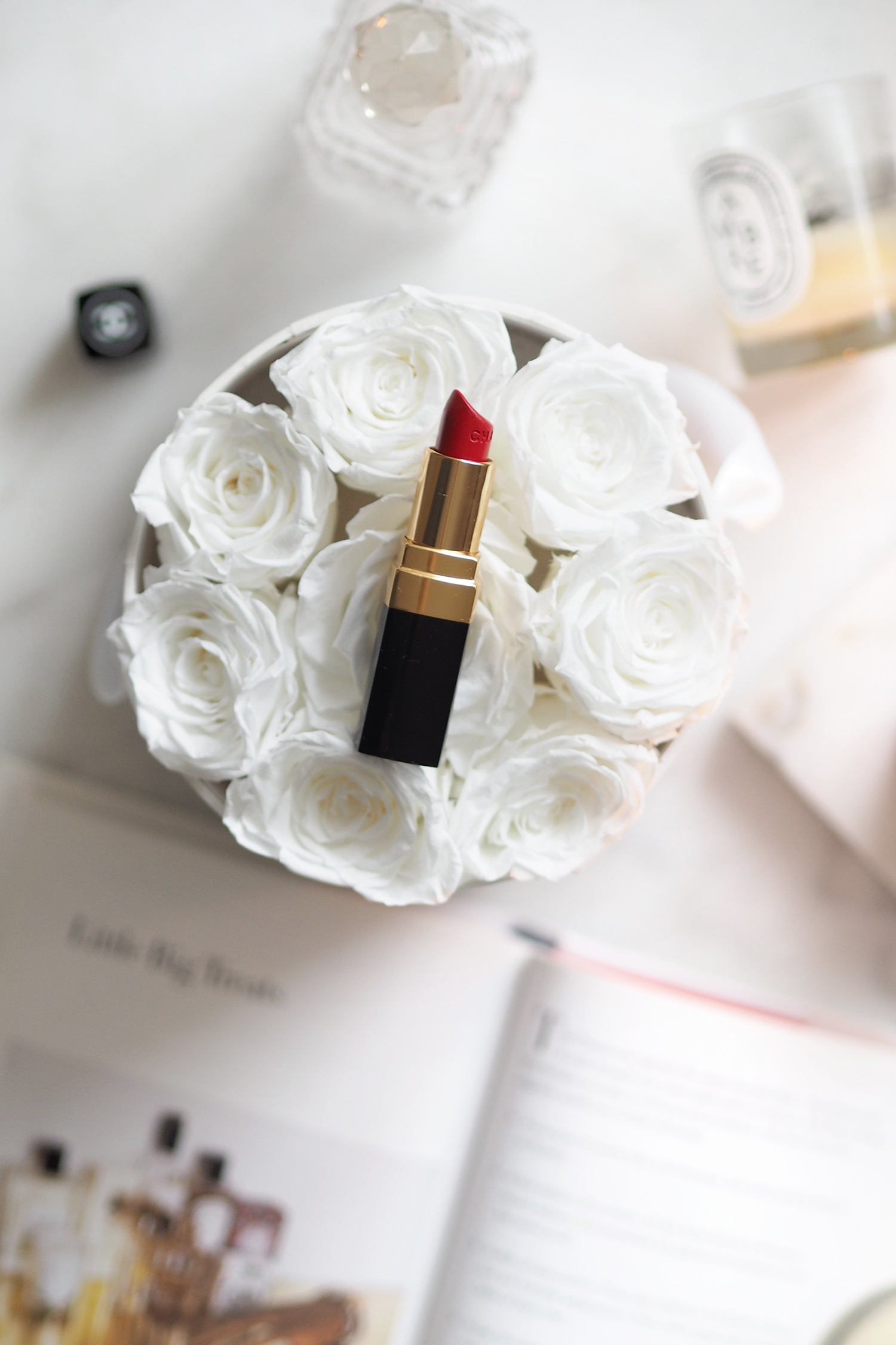 Char and the city, charandthecity.com, Chanel, punainen huulipuna, Rouge Coco 19